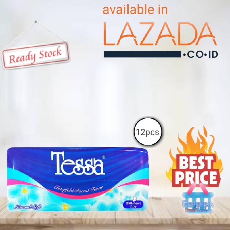 Tessa TP-22 Natural Soft Tissue Wajah [250 Sheets / 2 Ply] x 12pcs