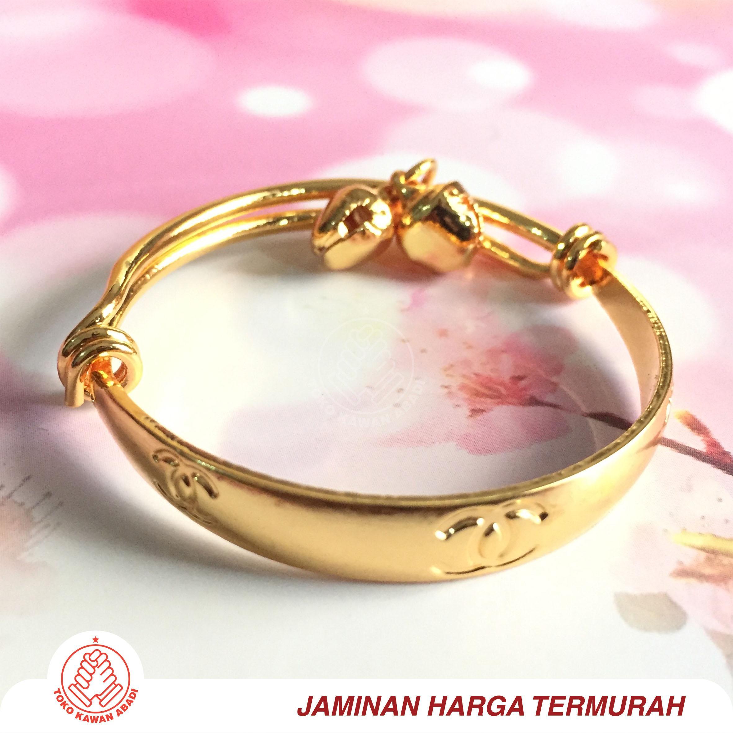 Gelang Tangan Xuping Gold Anak Bayi Perempuan *01 By Toko Kawan Abadi.