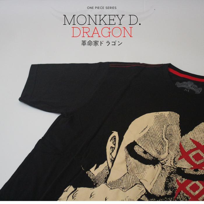 Kaos Anime One Piece Monkey D dragon - Hitam, S