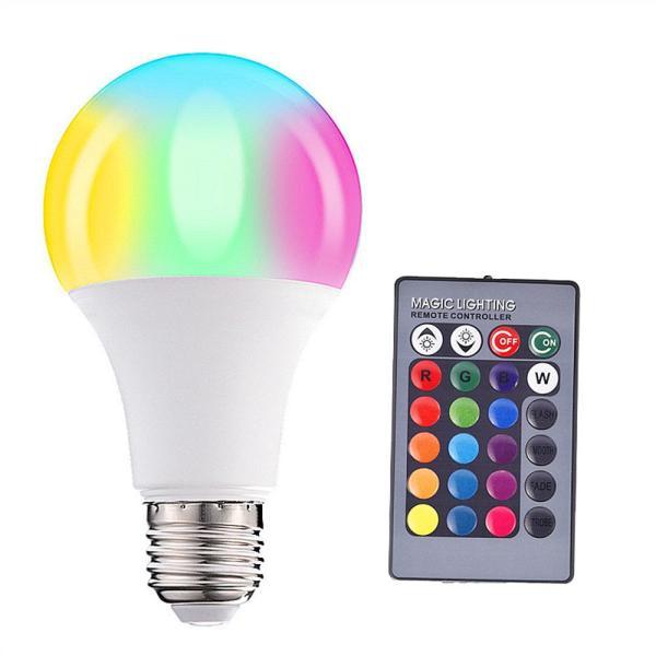 Đèn Biến Đổi RGB 5W 10W 15W, Đèn LED RGBW Đầy Màu Sắc Với Điều Khiển Từ Xa Hồng Ngoại MEDORY Giá Trị Lớn 110V 220V E27 RGB