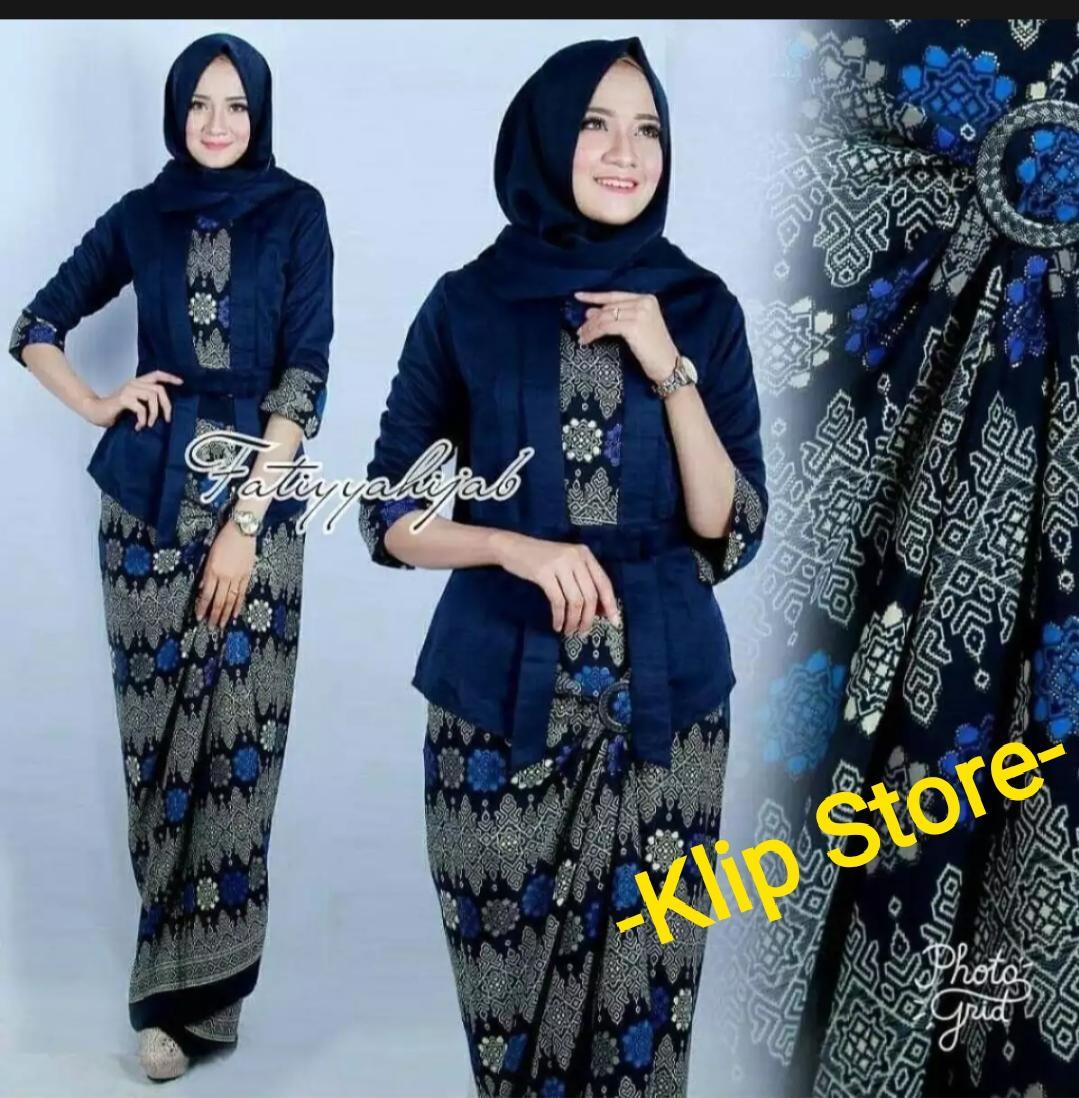 Setelan kebaya modern Elnira / kebaya hijab / kebaya Kartini / kebaya pesta terbaru