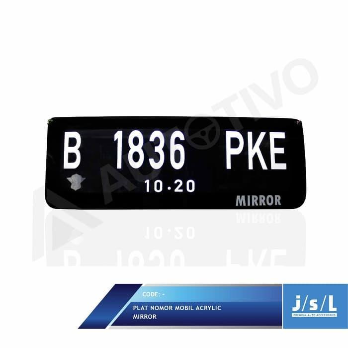 Plat Nomor Mobil Custom Stiker Frame Akrilik Lampu Depa