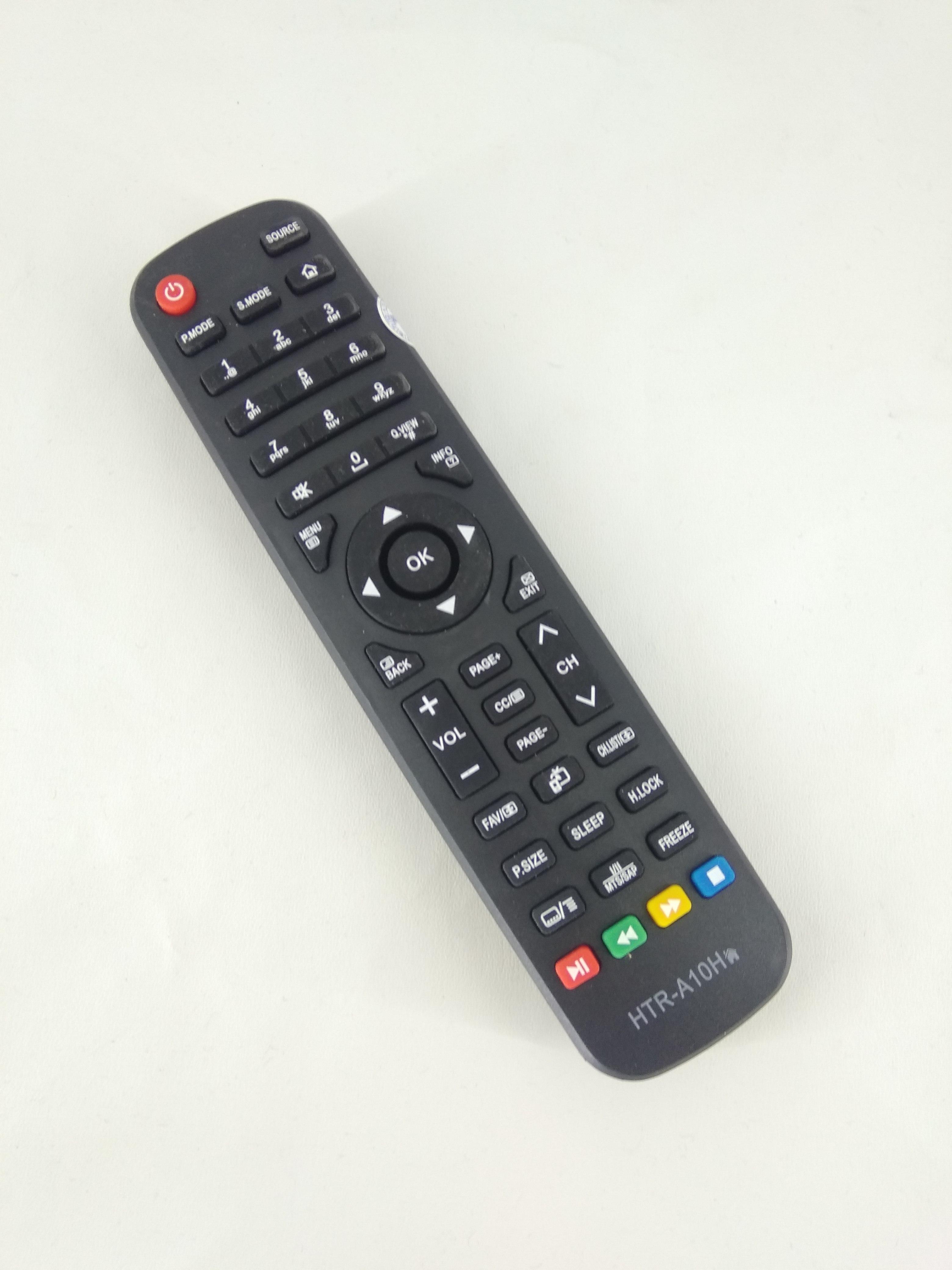 Remot Remote TV Aqua / Sanyo / Haier LCD LED HTR-A10H Original Pabrik / KW