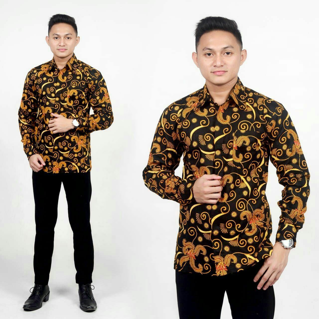 Baju Batik Pria Kemeja Batik Pekalongan Murah Lengan Panjang Motif Salju  Adem New Modern Seragam Pesta Resespsi Kantor Dinas Keren Batikpanjikhamim.store