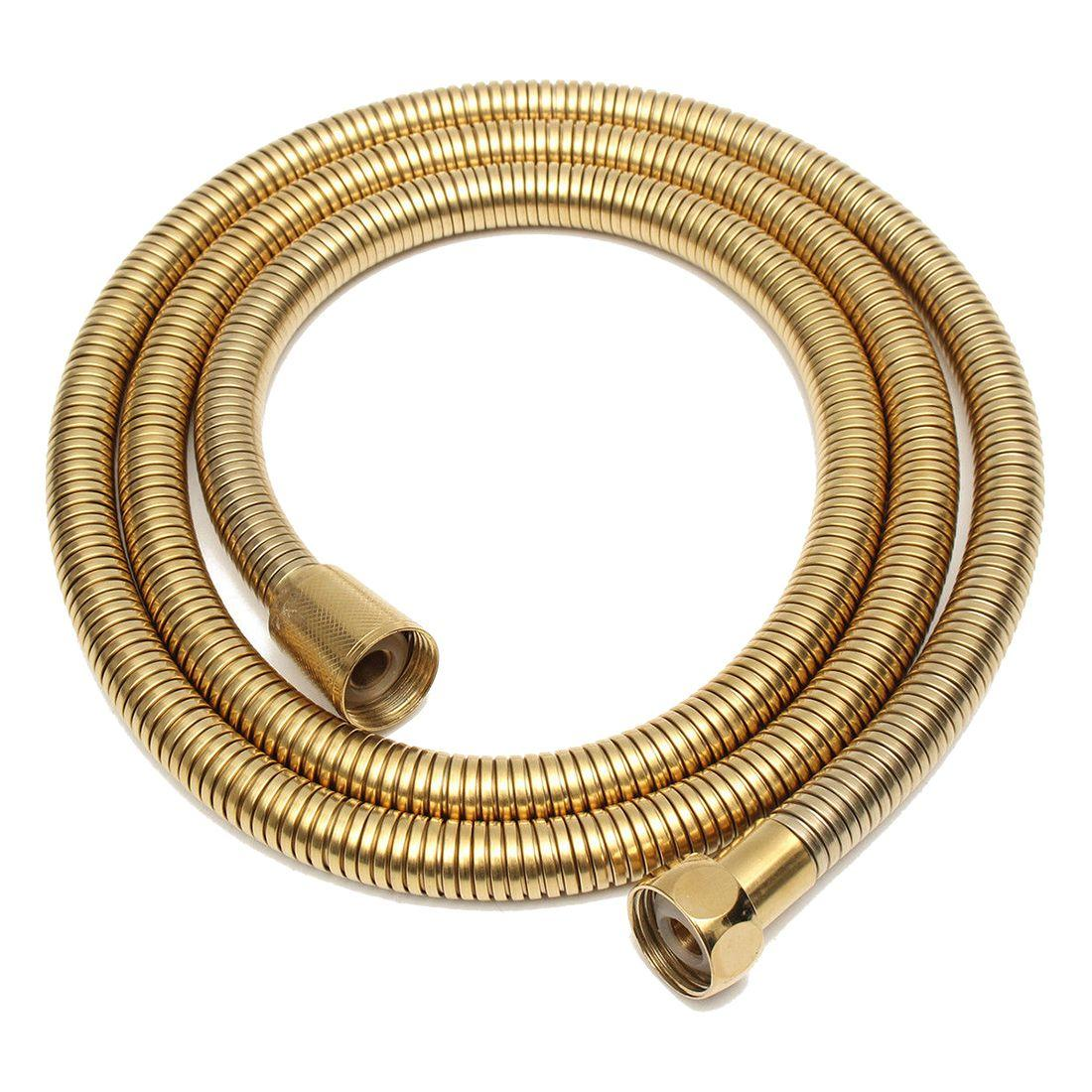 1.5m Gold Shower Head Hose Long Flexible Stainless Steel Bathroom Water Tube By Ertic.