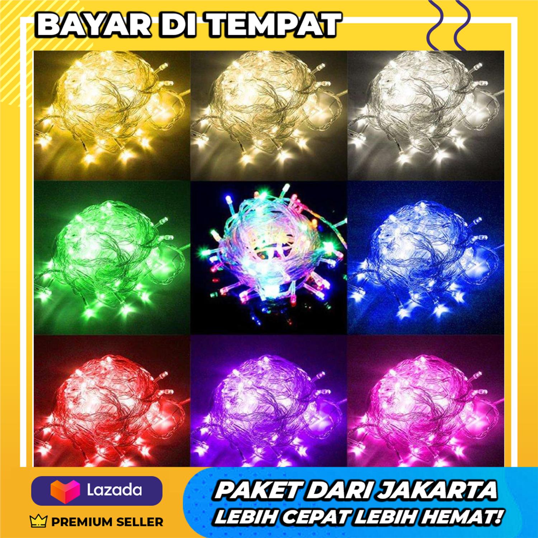 PROMO Lampu Tumblr Hias Kamar Tidur Rainbow 10 Meter + All Varian Warna Colokan Sambungan + Gratis PEMBERSIH TELINGA LED  - 1 Pcs
