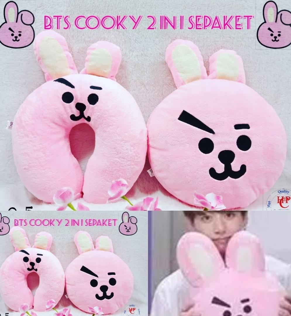 Bantal Bts Bt21 Cooky 2 In 1 Sepaket By H&p Collection.