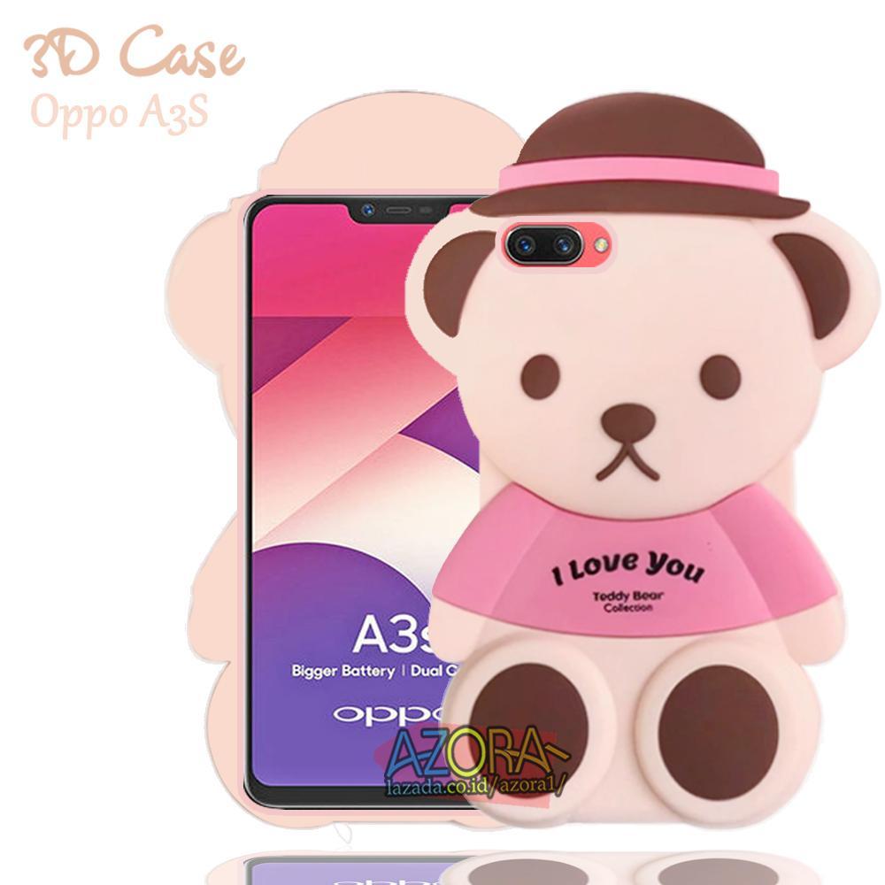 3D Case Oppo A3S 2018 / Realme C1 (sama ukuran) Softcase 4D Karakter Boneka