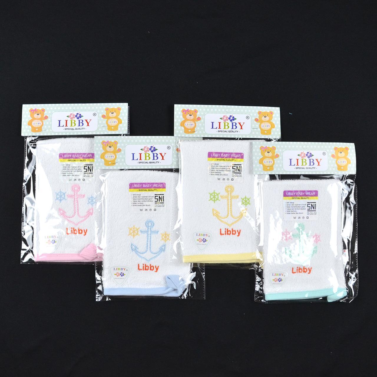LIBBY Washlap Handuk Cotton Bayi/Baby Putih (All Size)| Perlengkapan Bayi Baru