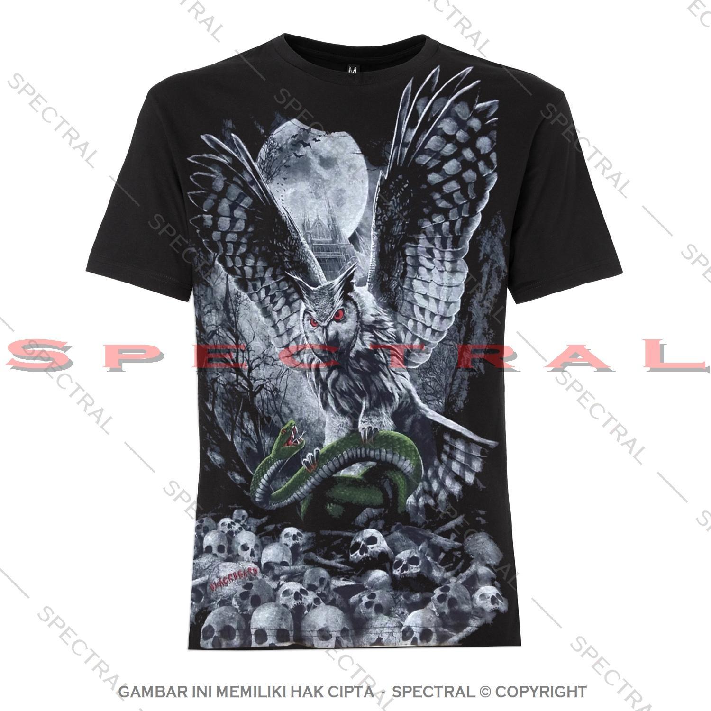 ★ Spectral ★ Kaos Pria Wanita Pure Cotton Combed T-Shirt ★ Dewasa dan Remaja ★ Gambar Burung Hantu Owl Sayap Magic Gaib Sihir Kacer Kakaktua Macan Harimau Serigala Singa Jaguar ★