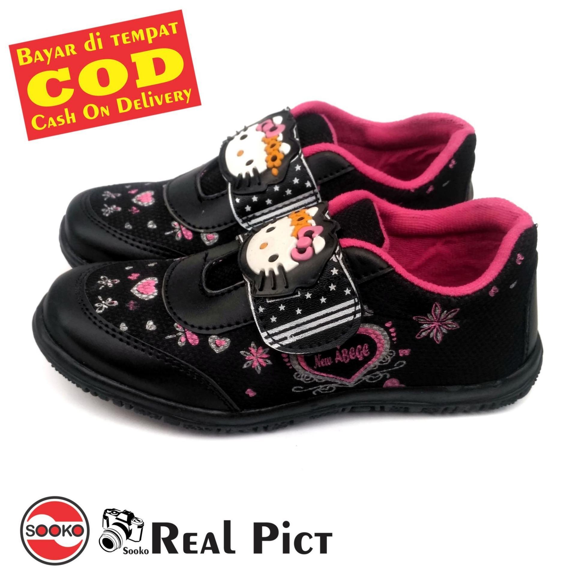 Sooko - Sepatu anak   Sepatu sekolah anak SD Hello Kitty Sepatu Anak  Perempuan Hitam 19fe110846