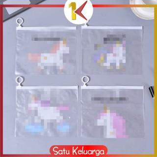 SK-C177 Zipper Pouch Transaparan Tempat Pulpen Pena Dan Pensil Bag Organizer Alat Kosmetik Makeup thumbnail