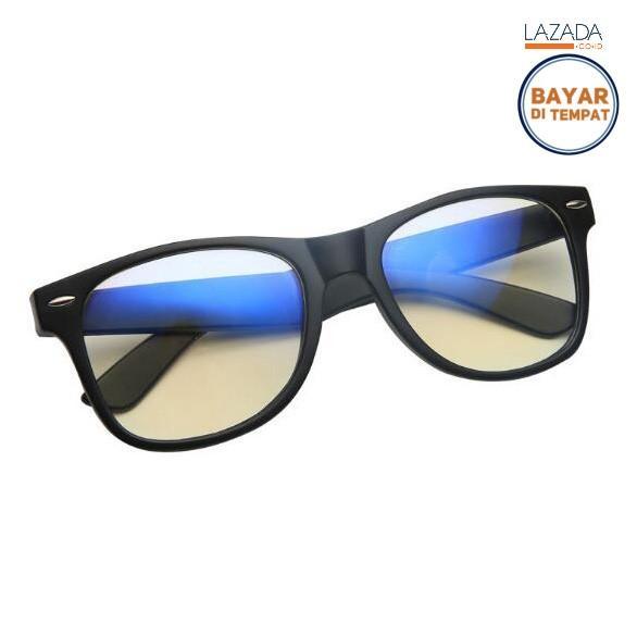 Kacamata Anti Blue Light Radiasi Komputer - E27 - Hitam