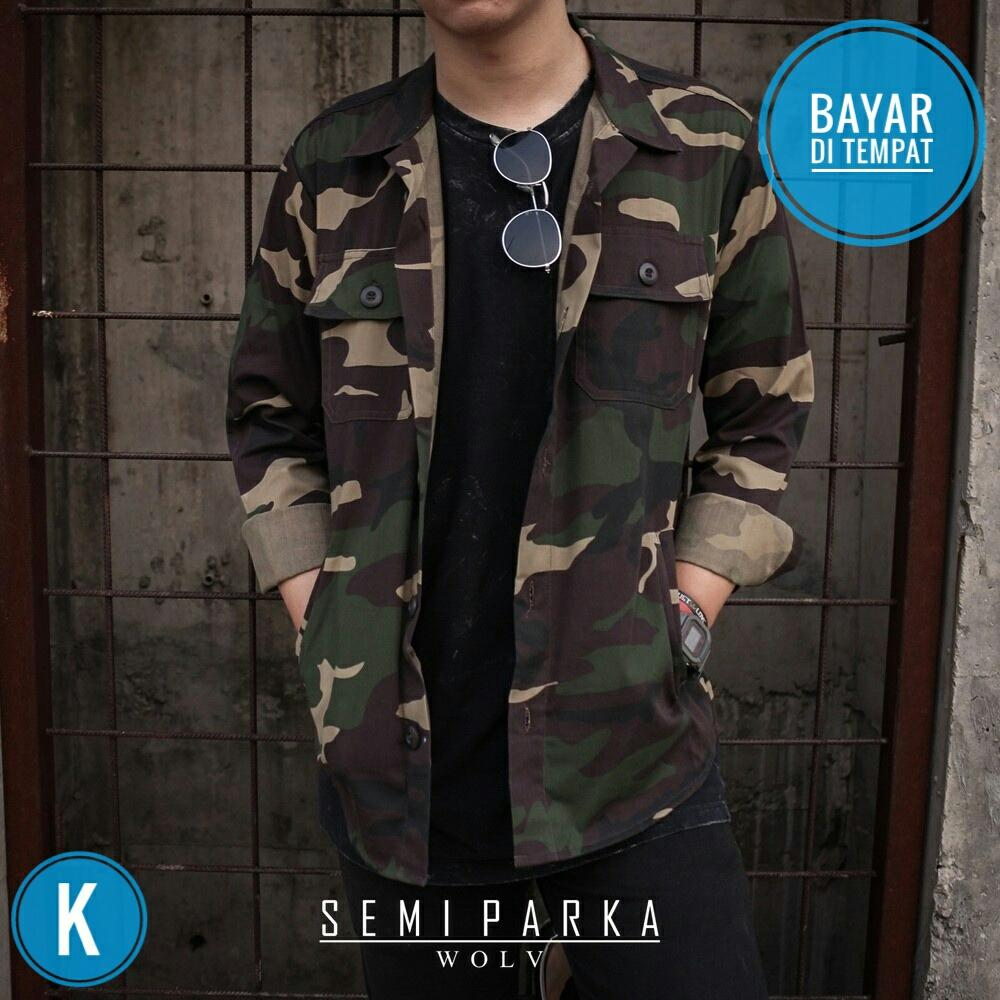 Jaket Semi Parka Camo Wolv Exclusive Murah K-WEST 842e124890