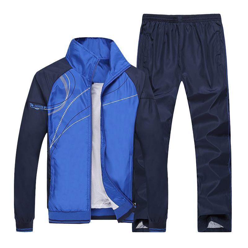 Mens Sport Suit Spring And Autumn Men And Women, Couples Sports Clothing School Uniform Long Sleeve Leisure Work Clothes Men And Women Sportswear By Taobao Collection.