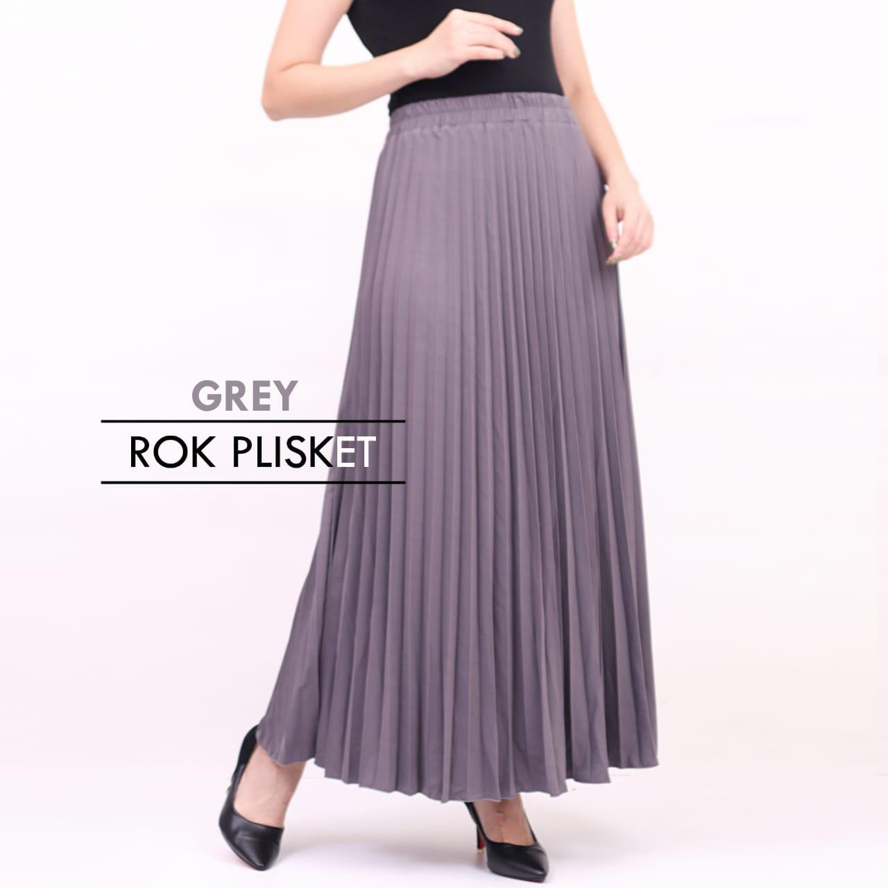 Ciara Fashion Rok Payung Plisket / Maxi Skirt / Bahan Import / Bawahan / Rok Maxi Kode.256 By Ciara Fashion.