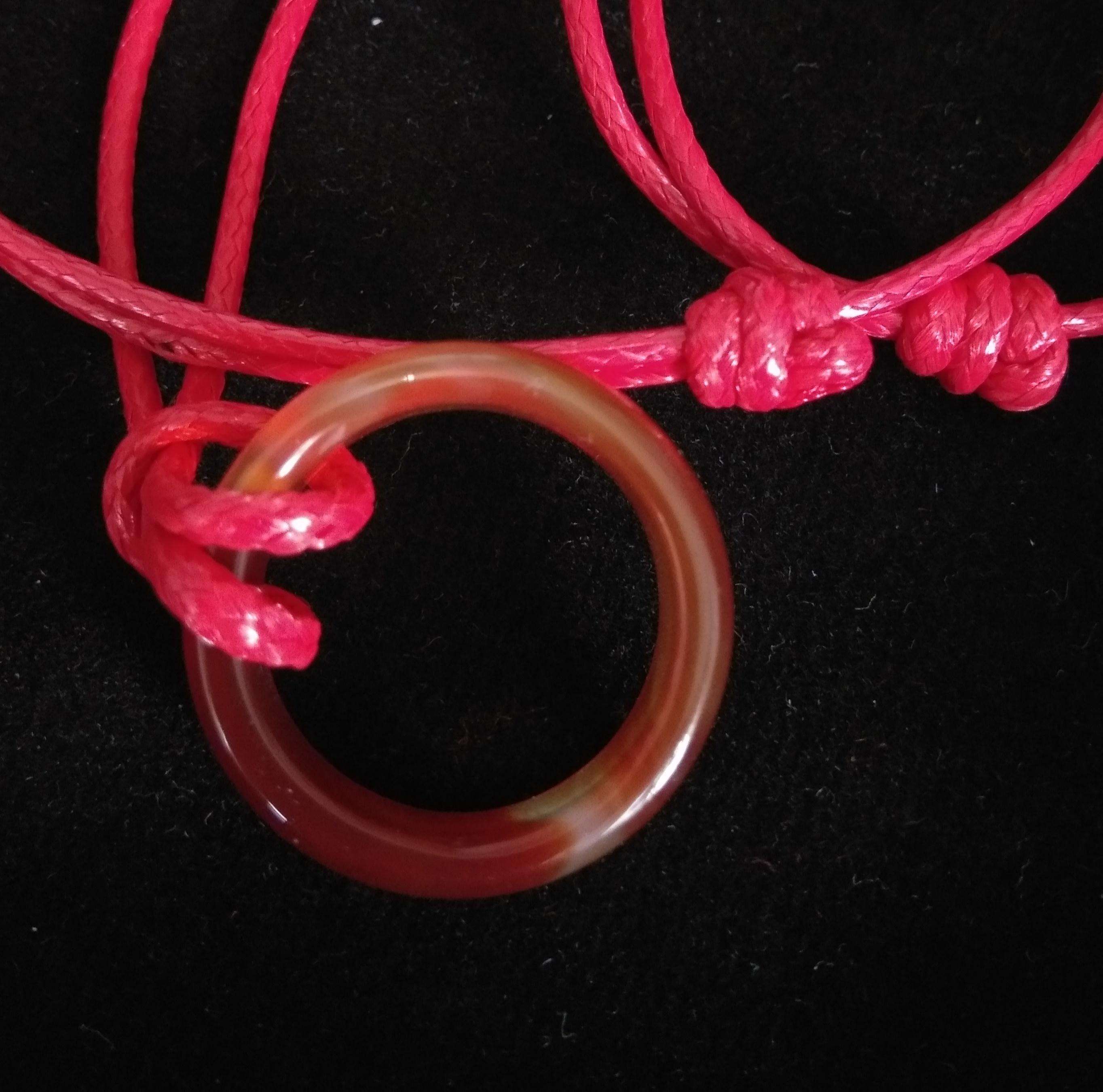 Fa Kalung Batu Raffles Model Cincin Tali Semi Kulit Merah By Fanny Aksesoris.