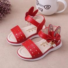 Jual 1 3 Tahun Sandal Kartun Lucu Bayi Anak Perempuan Telinga Panjang Dengan Mutiara Sepatu Princess Sepatu Lembut Bersol Musim Panas Sepatu Merah Intl Oem