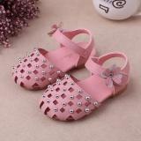 Harga Hemat 1 3 Tahun Bayi Perempuan Satu Tali Sandal Ujung Tertutup Bunga Sepatu Princess Sepatu Menari Pink Intl