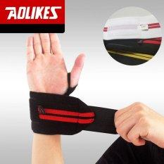 Harga 1 Pair Aolikes Angkat Berat Wristband Sport Pelatihan Profesional Tangan Bands Wrist Support Straps Membungkus Pengawal Untuk Kebugaran Gym Internasional Yang Murah Dan Bagus