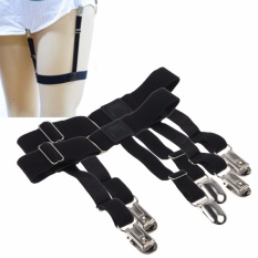 Beli 1 Pair Pria Elastis Garter Belt Sock Shirt Tetap Holder Clip Non Slip Lock Clamp Oem Online