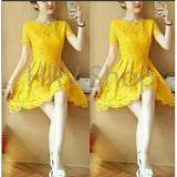 Hrv Shop Dress Wanita Devia Kuning Hrv Shop Diskon 50
