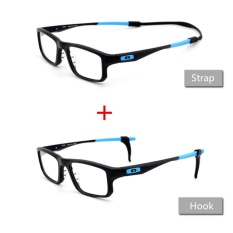 1 Set Silicone Glasses Sunglasses Anti-slip Safety Holder Ear Hook Temple Tip Head Strap Cord Retainer for Running Dancing Swimming Playing Balls (Black) - intl