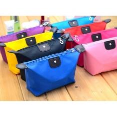 10 Pcs Tas Kosmetik Lipat Dompet Make Up Cosmetic Pouch Bag Random Colour Original