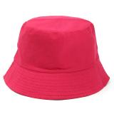 Dimana Beli 100 Cotton Adults Bucket Hat Summer Fishing Boonie Beach Festival Sun Cap Rose Red Intl Oem