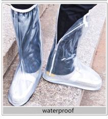 Jual Beli 100 Pvc Fashion Rainproof Sepatu Shirt Flat Shoe Cover Wanita Karet Boots Tahan Air Coat Karet Tebal Putih Intl