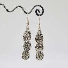 1024-047954l-Anting Motif Bunga Silver Celuk Bali-UKM