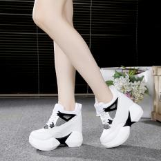 Diskon 12 Cm Korea Fashion Style Putih Sol Tebal Hak Super Tinggi Sepatu Sepatu Golden Goose Sepatu Wanita Putih Branded