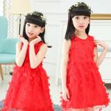 Harga 12 Gadis Musim Panas Gaun Musim Panas Merah Baru