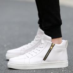 12 Kulit Remaja Sepatu Anak Perempuan Kulit Sepatu Boot Sepatu Kulit (888 Putih)