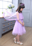Diskon 12 Gaun Model Musim Panas Remaja Gaun Putri Anak Anak Anak Perempuan Kecil Ungu