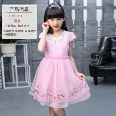 Diskon 12 Musim Semi Dan Musim Gugur Gadis Lengan Panjang Gaun Rok Putri Merah Muda Lengan Pendek Oem Di Tiongkok