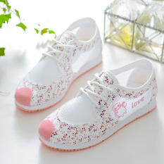 12 Musim Semi Dan Musim Panas Siswa Sekolah Menengah Bernapas Anak Perempuan Kebugaran Sandal Summer Remaja Sepatu Santai (Pink)