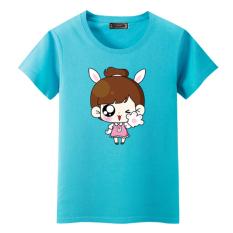 Beli Barang 12 Remaja Musim Panas Lengan Pendek T Shirt Pakaian Langit Biru Online