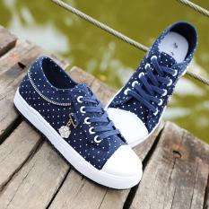 Beli 12 Remaja Remaja Perempuan Kasual Sepatu Kanvas Sepatu Biru Tua Warna Sepatu Wanita Sepatu Sport Sepatu Sneakers Wanita Secara Angsuran