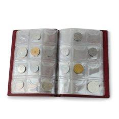 Spesifikasi 120 Koin Uang Penny Kantong Pemegang Penyimpanan Koleksi Album Buku Murah