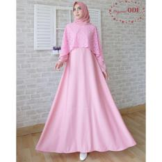 120042 GAMIS PESTA NEW OLIVIA ODF PINK SOFT