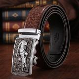Harga 120 Cm 5 Cm Pria Cowboy Leather Otomatis Belt Mbt021142 4 Kopi Silver Intl Origin