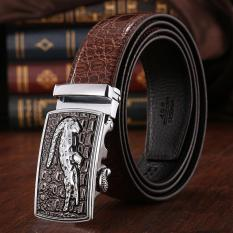 Jual 120 Cm 5 Cm Pria Cowboy Leather Otomatis Belt Mbt021142 4 Kopi Silver Intl Di Dki Jakarta