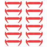 Toko 12 Pcs Tali Sepatu Silikon Elastis Tidak Ada Tali Pengikat Sepatu Sneakers Pelatih Anak Anak Orang Dewasa Orange Intl Murah Tiongkok