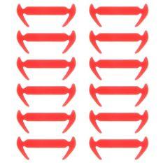 12 Pcs Tali Sepatu Silikon Elastis Tidak Ada Tali Pengikat Sepatu Sneakers Pelatih Anak Anak Orang Dewasa Orange Intl Oem Diskon