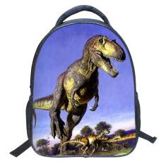 Harga 35 56 Cm 3D Kartun Dinosaurus Hidup Menjalankan Ransel Sch**l For Perempuan Children Kembali Ke Sekolah Internasional Original