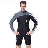 Harga Hemat 1 5Mm Ketebalan Pakaian Selam Surfing Snorkeling Mandi Suit Wetsuit Grey Untuk Pria Intl