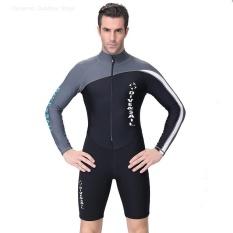 Harga 1 5Mm Ketebalan Pakaian Selam Surfing Snorkeling Mandi Suit Wetsuit Grey Untuk Pria Intl Paling Murah