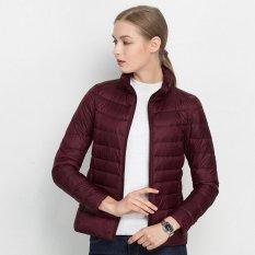 Beli 16 Warna Baru Wanita Ultra Light Duck Down Jaket Plus Women S Overcoat Ukuran Besar Ringan Mantel Jaket Burgundy Intl Oem Dengan Harga Terjangkau
