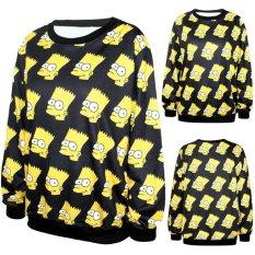 Tips Beli 16 Warna Wanita Pria Ruang Galaxy Berkeringat Jumper Sweater Printing Round Neck T Shirt Top Pullover Intl